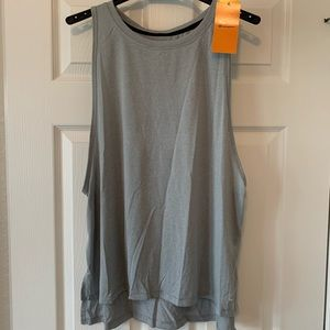 NWT Champion C9 High Neck Sleeveless Tank XL Grey
